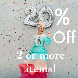 20% Off All Bundles of 2 or More Items!